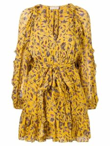Ulla Johnson printed mini dress - Yellow