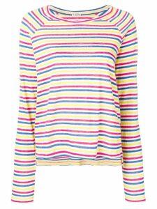 Barena striped fine knit sweater - White