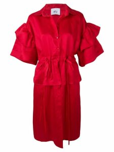 Atu Body Couture puff-sleeve midi dress - Red