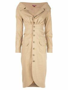 Staud slim-fit midi dress - Brown