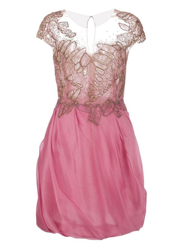 Marchesa Organza cocktail dress - Pink