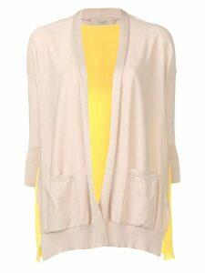 Maison Flaneur contrast draped cardigan - Yellow