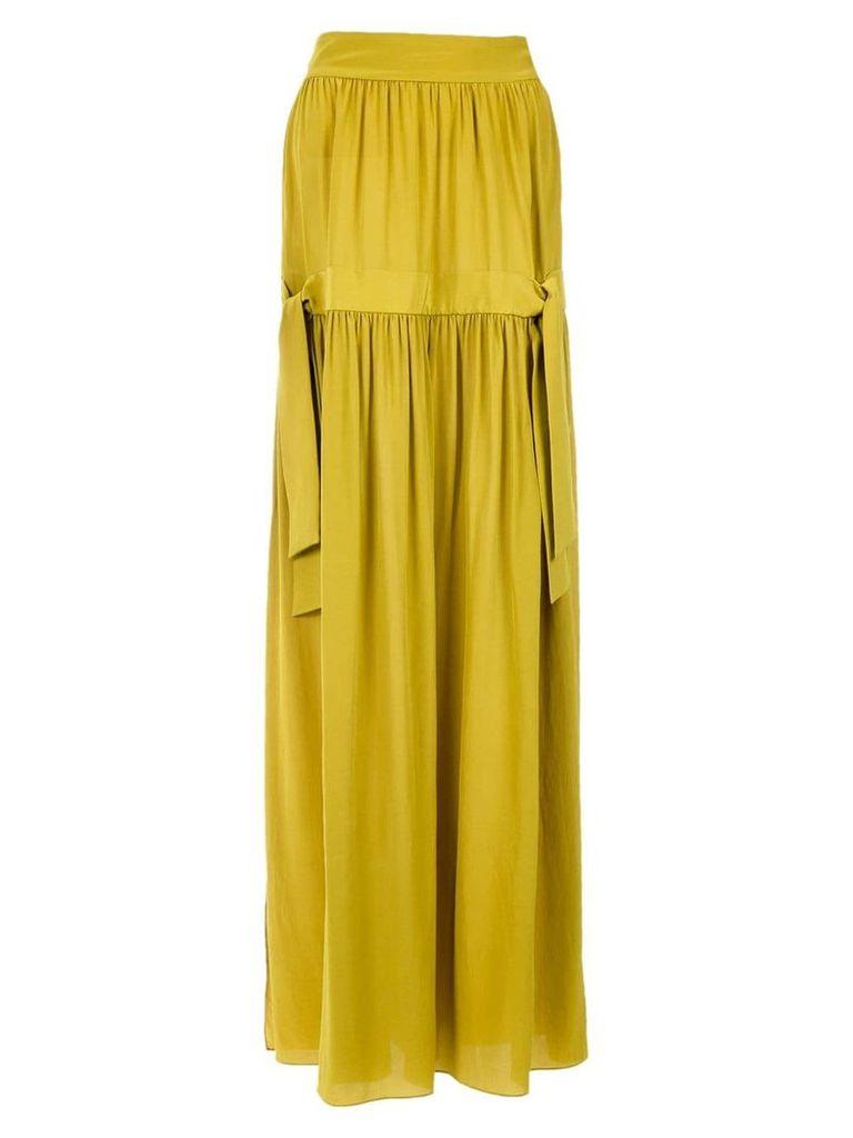 Adriana Degreas silk maxi skirt - Citronelle