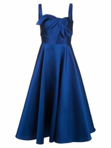 Marchesa Notte Mikado tea dress - Blue