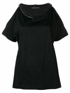 Fabiana Filippi cut-out shoulder T-shirt - Black