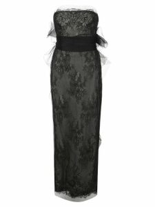 Marchesa Chantilly lace tube gown - Black