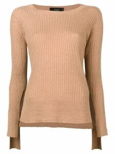 Maison Flaneur long-sleeve fitted sweater - Neutrals
