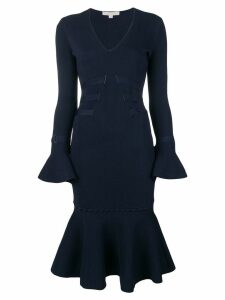 Jonathan Simkhai long-sleeve flared dress - Blue