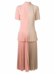 Atu Body Couture colour-block pleated dress - Neutrals