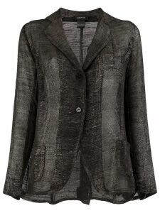 Avant Toi sheer knit blazer - Black