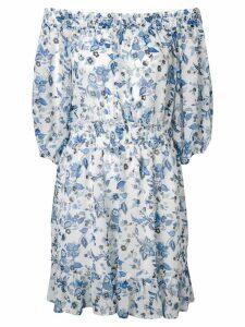 Liu Jo floral print off the shoulder dress - White
