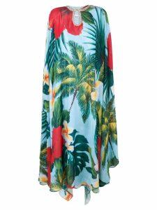 Richard Quinn tropical print tunic dress - Blue
