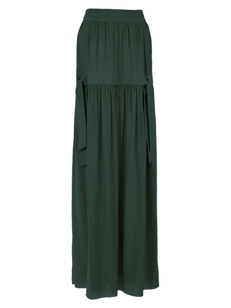 Adriana Degreas silk maxi skirt - Green