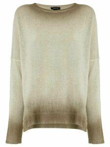 Avant Toi oversized gradient sweater - Neutrals