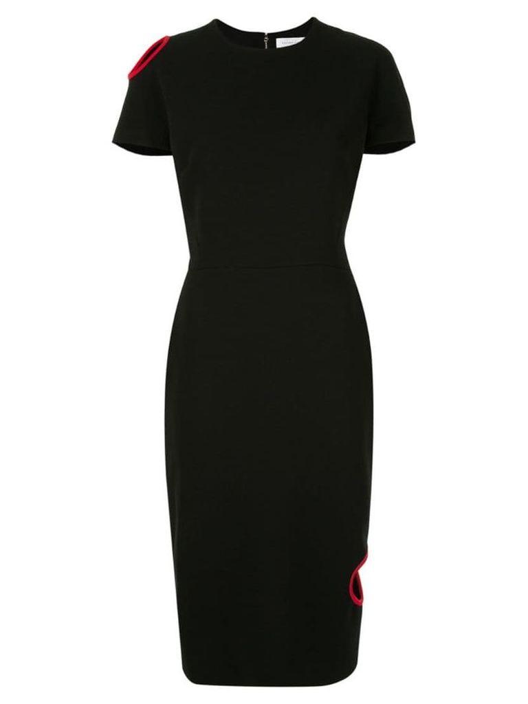 Victoria Beckham short-sleeve fitted dress - Black