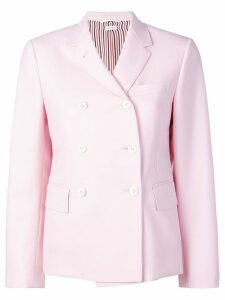 Thom Browne Dyed Mohair Narrow Sport Coat - Pink