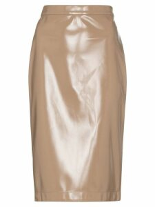 Burberry Vinyl pencil skirt - Brown