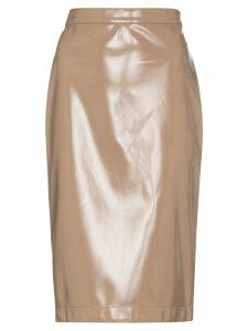 Burberry Vinyl pencil skirt - Brown