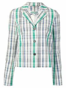 Kenzo check jacket - White