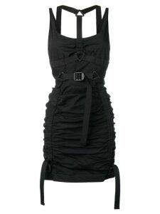 Dsquared2 ruched harness mini dress - Black