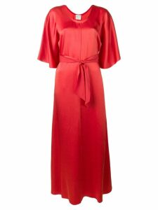 Forte Forte belted maxi dress - Red