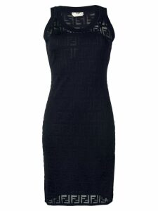 Fendi FF motif knitted dress - Blue