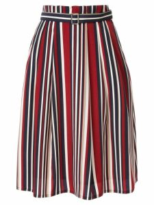 Guild Prime striped flared skirt - Multicolour
