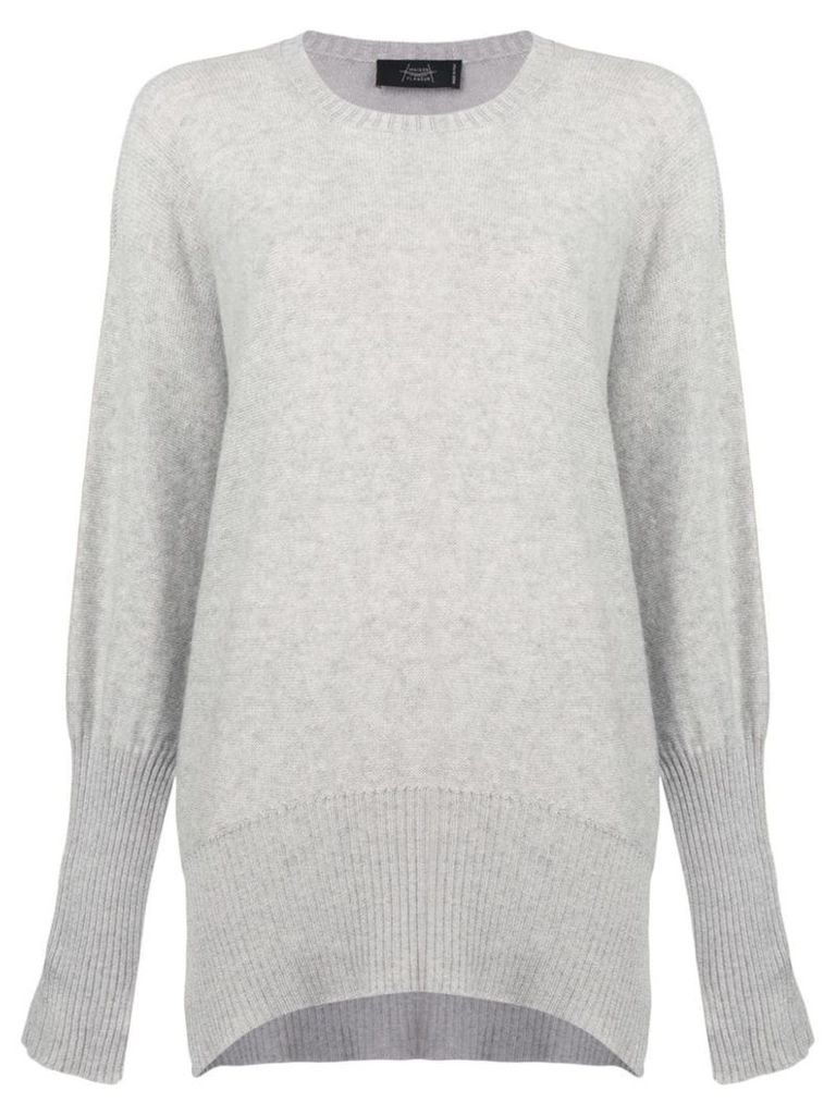 Maison Flaneur draped long-sleeve sweater - Grey