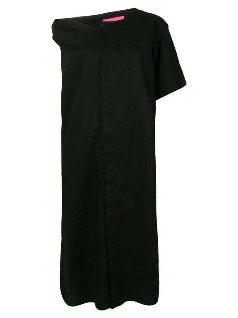 Y's asymmetrical midi dress - Black