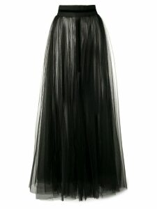 Loulou sheer full skirt - Black