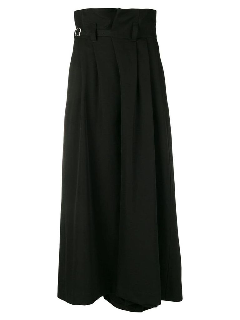 Y's belted asymmetric skirt - Black
