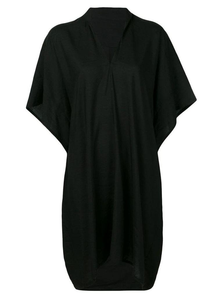 Y's v-neck loose dress - Black
