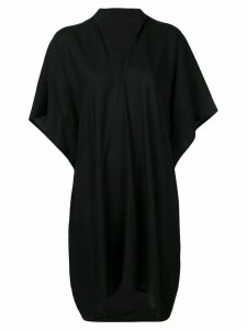 Y's v-neck loose dress - Black