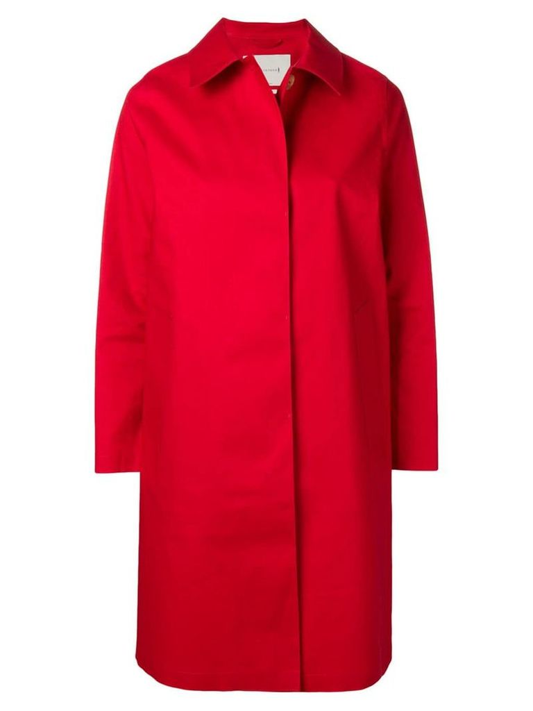 Mackintosh classic slim-fit trench coat - Red