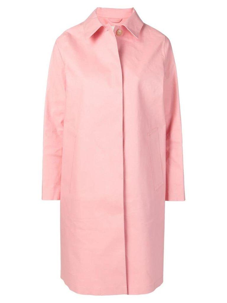 Mackintosh classic slim-fit raincoat - Pink