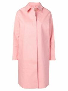 Mackintosh classic slim-fit raincoat - Pink