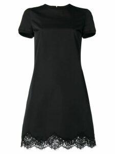 Dsquared2 scalloped lace hem mini dress - Black