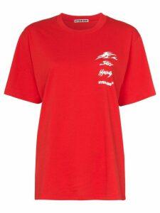 Hyein Seo reflective logo-print cotton T-shirt - Red