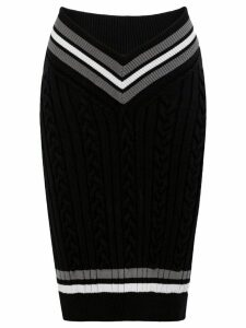 Y/Project cable knit pencil skirt - Black