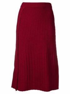 Joseph knitted midi skirt - Red