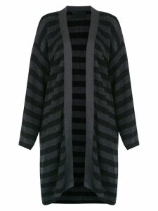 Andrea Bogosian striped cardicoat - Black
