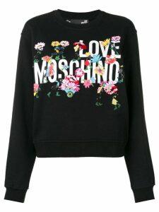 Love Moschino logo sweatshirt - Black