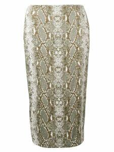 Diane von Furstenberg snakeskin print pencil skirt - Green
