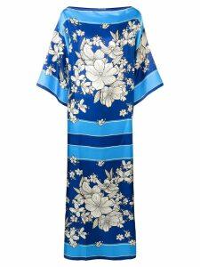 P.A.R.O.S.H. floral oversized dress - Blue