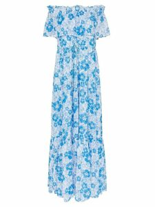 All Things Mochi kona floral-print maxi dress - Blue
