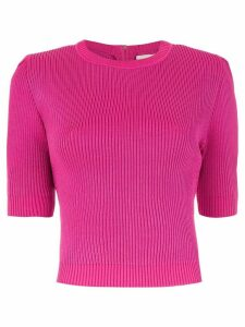 Framed knitted cropped top - Pink
