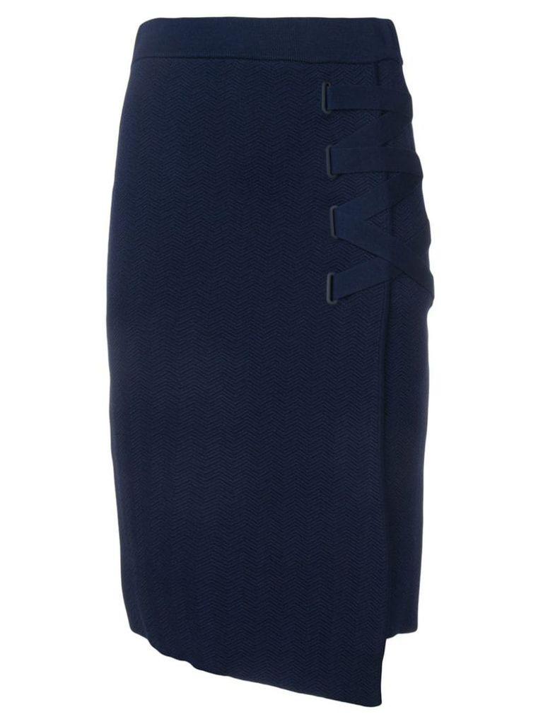 Jonathan Simkhai side-slit pencil skirt - Blue