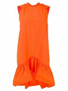 MSGM ruffled hem dress - Orange