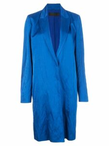Haider Ackermann concealed front coat - 044 Royal Blue