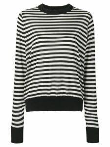 Comme Des Garçons Noir Kei Ninomiya striped crew neck sweater - Black